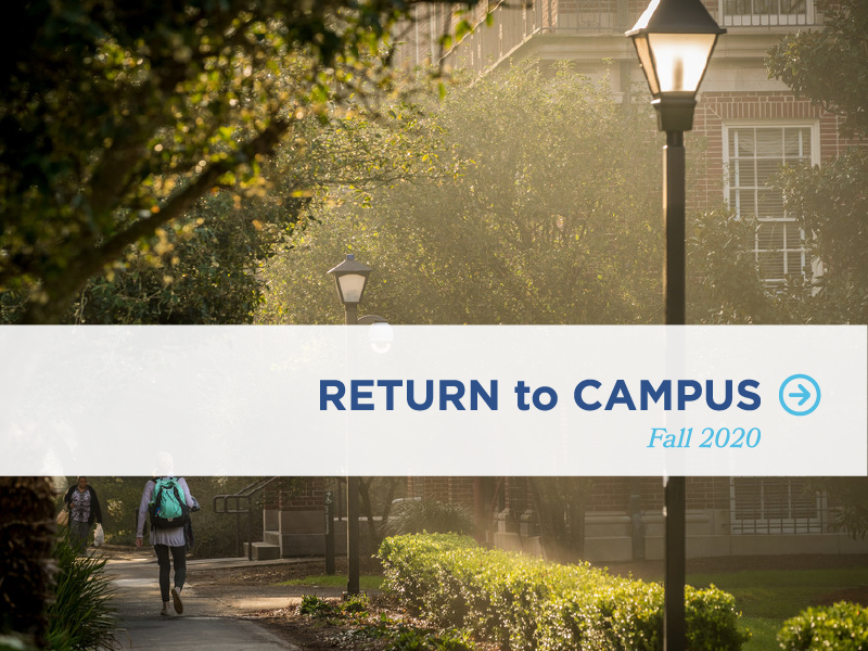 Return to Campus graphic and link