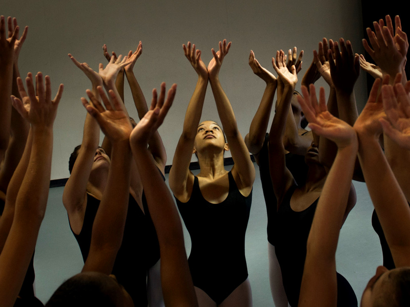 Students perform in dance class