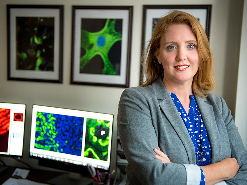 Sarah Lindsey, a researcher in the Department of Pharmacology