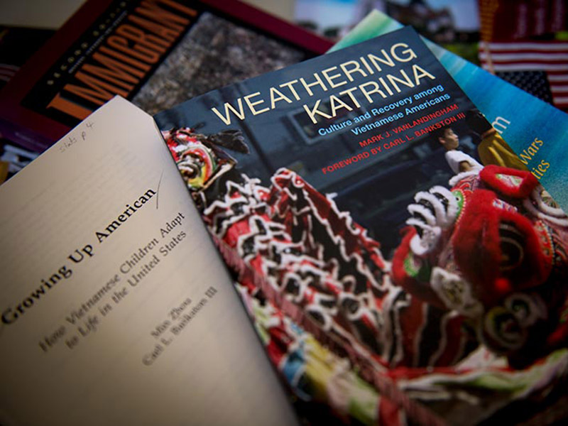 A book written by Tulane sociology professor Carl L. Bankston III and his colleague Min Zhou. 'Weathering Katrina' is a just-released study of how the Vietnamese community in New Orleans recovered after Hurricane Katrina.