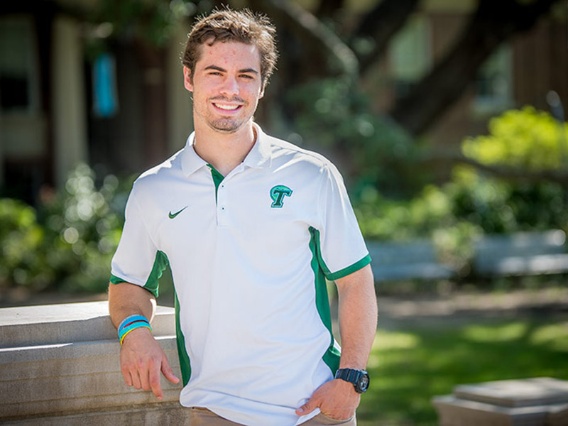 Marshall Wadleigh joined the Tulane football program as a walk-on in 2013, maintained a 4.0 grade point average and by his senior year, was awarded a scholarship by head coach Willie Fritz.