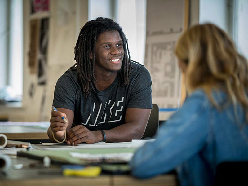 After spotting LSU graduate Brandon Surtain's paintings in a local newspaper, Dean Ken Schwartz offered the artist a scholarship to the Tulane School of Architecture's graduate program.