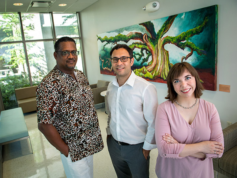 Tulane researchers, from left, Michael Cunningham, Michael Moore and Katherine Elfer