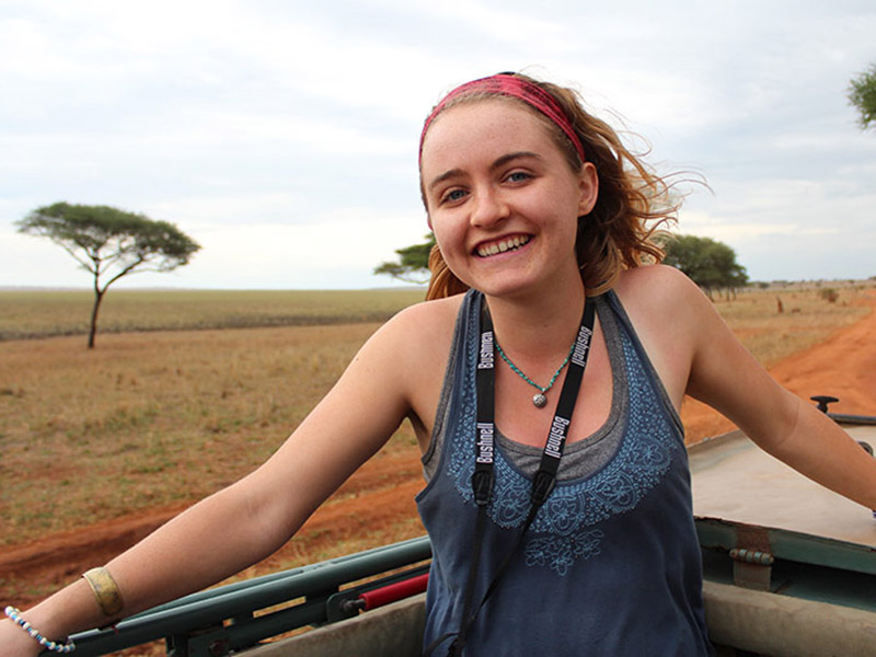Tulane University senior Clare Lister spent a full semester learning about wildlife conservation and Maasai culture while living in a remote village in Tanzania.