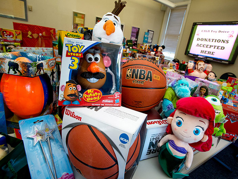 Through Monday, Dec. 4, Tulane faculty and staff members can donate gifts to children in need during the annual holiday toy drive benefiting Court Appointed Special Advocates (CASA) for Children.