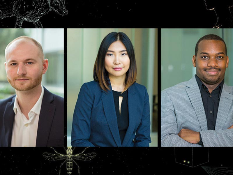 Nick Pashos, Mei Wang and Jason Ryans are recipients of National Science Foundation Innovation-Corps grants. They, along with other Tulane doctoral students and faculty mentors, were awarded $50,000 grants during the past few years to look into the market