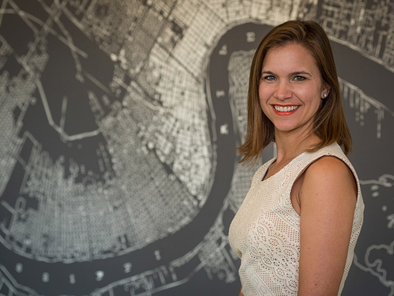 Catherine Burnette, an assistant professor at the Tulane School of Social Work
