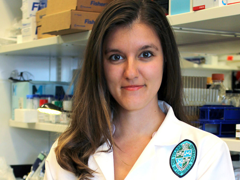 Tiffany Kaul is an MD/PhD student who works in the lab of Prescott Deininger, PhD.