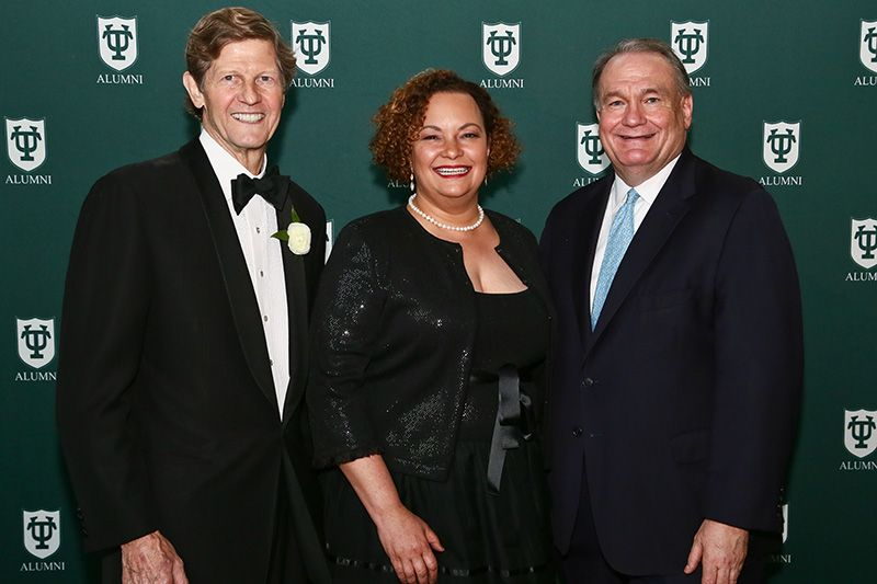 Left to right: Darryl D. Berger, Lisa Jackson and President Fitts