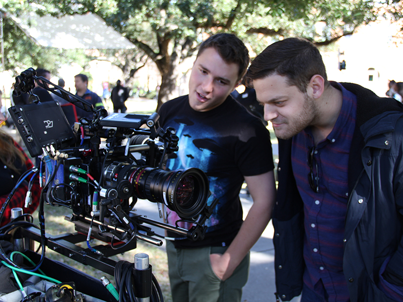 Students work on the production of a digital film