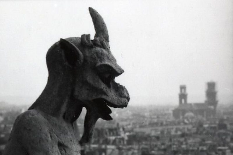 Gargoyle on Notre Dame in Paris
