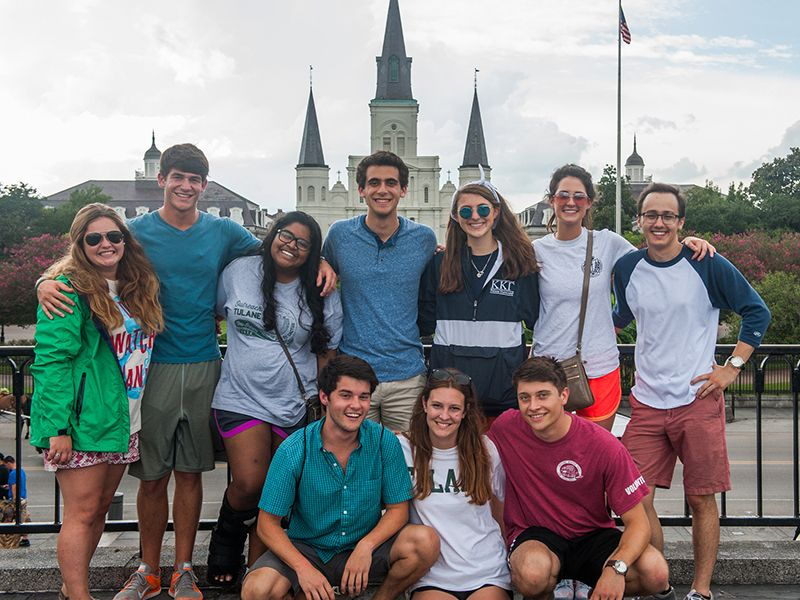 Students visit Jackson Square during NOLA Experience
