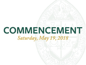 Commencement: Saturday, May 19 2018